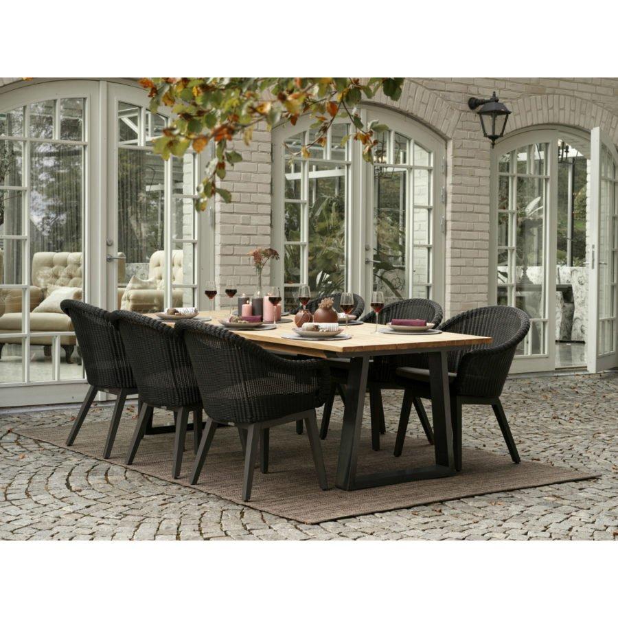 Brafab Gartenmobel Set Mit Dining Sessel Beverly Und Tisch Laurion