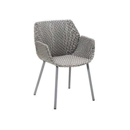 "Cane-line ""Vibe"" Dining-Sessel, Geflecht light grey/grey/taupe"