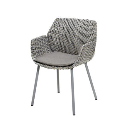 "Cane-line ""Vibe"" Dining-Sessel, Geflecht light grey/grey/taupe mit Kissen taupe"