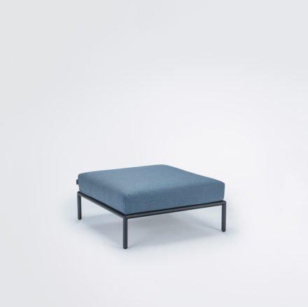 "Loungehocker ""Level"" von Houe, Gestell Aluminium, Textilgewebe Sunbrella Carbon sky"