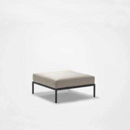 """Loungehocker """"Level"""" von Houe, Gestell Aluminium, Textilgewebe Sunbrella Graumel chalk"""