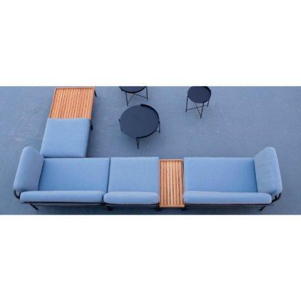 """Houe """"Level"""" Loungeserie, Gestell Aluminium, Textilgewebe grau mit """"Edge"""" Beistelltische"""