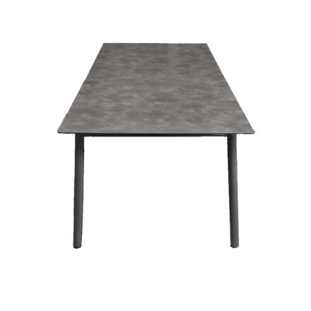 "Jati&Kebon Gartentisch ""Durham"", Gestell Aluminium eisengrau, Tischplatte HPL Granit dunkelgrau, 220x100 cm"
