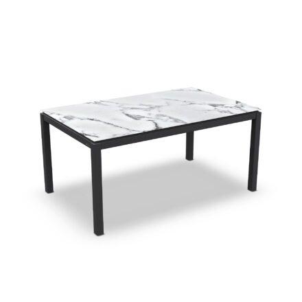 "Jati&Kebon Gartentisch ""Lugo"", Gestell Aluminium eisengrau, Tischplatte Keramik Graduario, 160x90 cm"