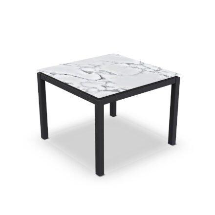 "Jati&Kebon Gartentisch ""Lugo"", Gestell Aluminium eisengrau, Tischplatte Keramik Graduario, 90x90 cm"