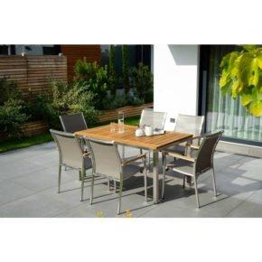 """Jati&Kebon Gartenmöbel-Set mit Tisch """"Mallorca"""" und Stuhl """"Darfo"""""""