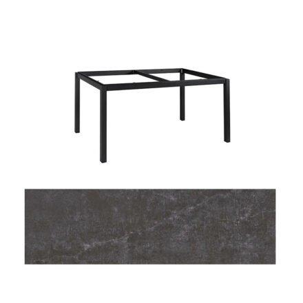 "Jati&Kebon Gartentisch ""Lugo"", Gestell Aluminium eisengrau, Tischplatte Dekton Laos, 160x90 cm"