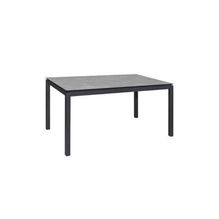 """Jati&Kebon Gartentisch """"Lugo"""", Gestell Aluminium eisengrau, Tischplatte HPL, 160x90 cm"""
