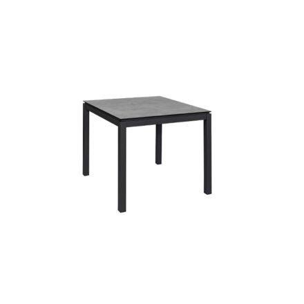 """Jati&Kebon Gartentisch """"Lugo"""", Gestell Aluminium eisengrau, Tischplatte HPL, 90x90 cm"""