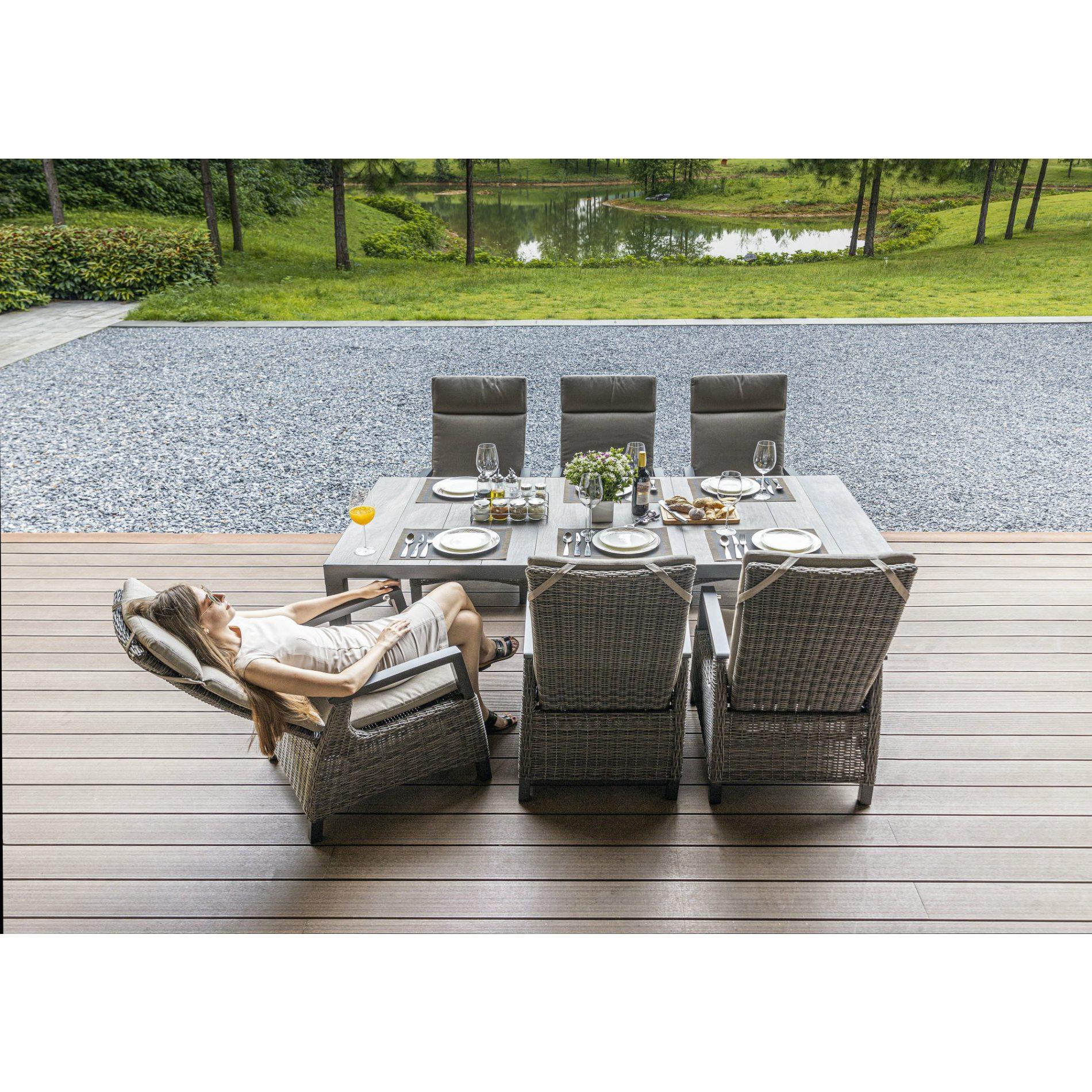 Siena Garden Gartenmobel Set 7 Tlg Mit Dining Sessel Corido Und Gartentisch Silva