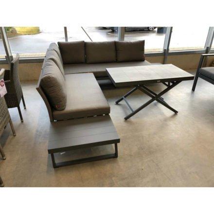 """Siena Garden Loungeset """"Larina"""" mit Lift-Tisch """"Larina"""", Aluminium matt graphit"""