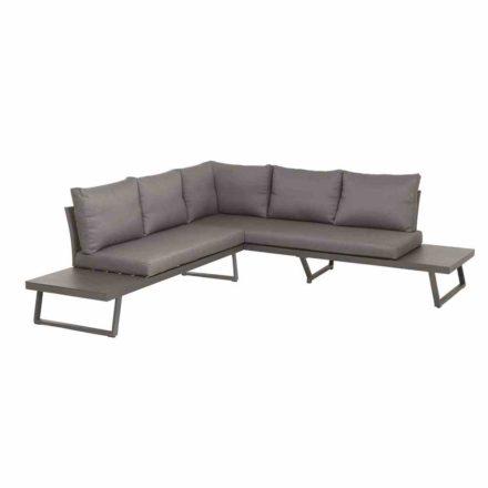 "Siena Garden Loungeset 2-tlg. ""Larina"", Gestell Aluminium matt graphit, Kissen jeans-grau"