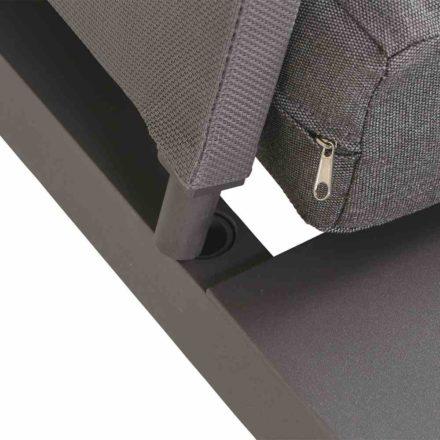 "Siena Garden Loungeelement ""Larina"", Gestell Aluminium matt graphit, Kissen jeans-grau"