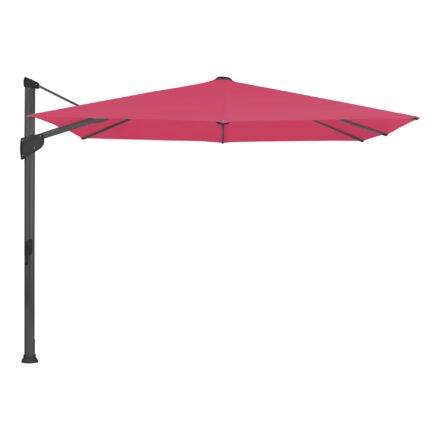 """Glatz Sonnenschirm """"FORTANO®"""", Gestell Aluminium anthrazit, Dessin 681 - Pink (© by GLATZ AG, Schweiz)"""