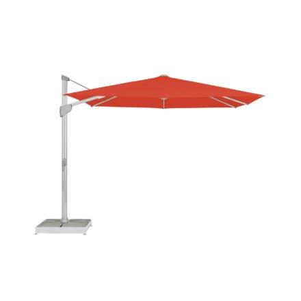 "Glatz Sonnenschirm ""FORTANO®"", Gestell Aluminium natureloxiert, Dessin 516 - Fire Red (© by GLATZ AG, Schweiz)"