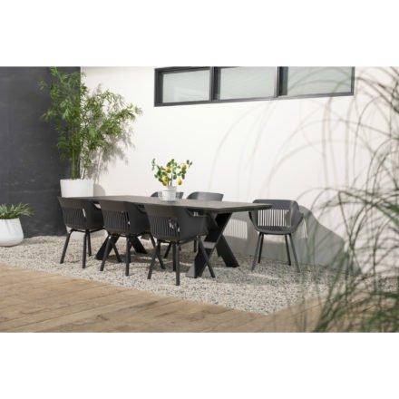 """Hartmann Gartenmöbel-Set mit Tisch """"Xanadu"""" und 6 Stühlen """"Jill"""", Aluminium xerix. Sitzschale xerix"""