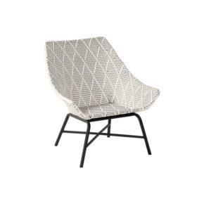 "Hartman Lounge Chair ""Delphine"", Gestell Aluminium Carbon Black, Geflecht Diamond"
