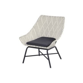 "Hartman Lounge Chair ""Delphine"", Gestell Aluminium Carbon Black, Geflecht Diamond"