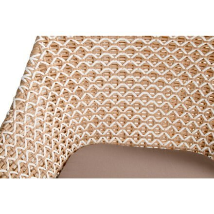 "Hartman Lounge Chair ""Delphine"", Gestell Aluminium Royal White, Geflecht Honey, Sitzkissen taupe"