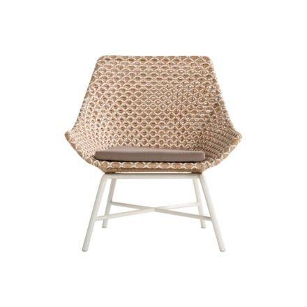 "Hartman Lounge Chair ""Delphine"", Gestell Aluminium Royal White, Geflecht Honey"