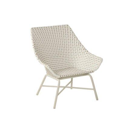 "Hartman Lounge Chair ""Delphine"", Gestell Aluminium Royal White, Geflecht Moccacino"