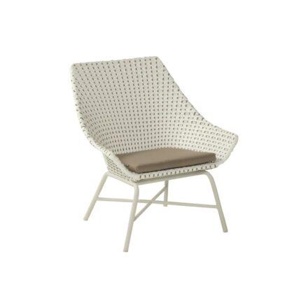 "Hartman Lounge Chair ""Delphine"", Gestell Aluminium Royal White, Geflecht Moccaino"