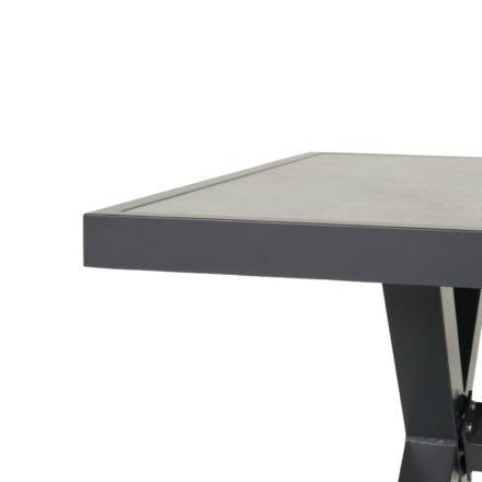 "Hartman Diningtisch ""Porto Rico"", Gestell Aluminium xerix, Tischplatte Keramik beige wood"