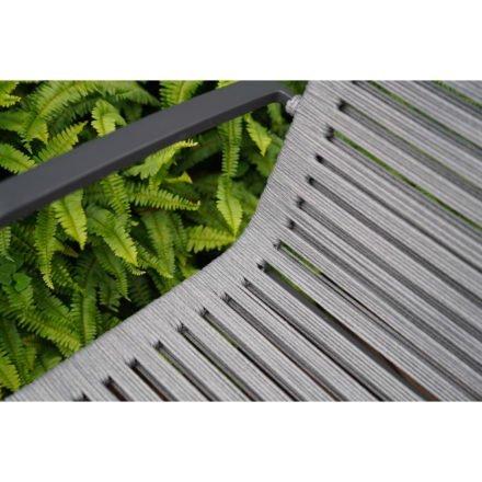 """Home Islands Gartenstuhl """"Malaki"""", Gestell Aluminium charcoal, Sitzflächen-Bespannung Rope Grey"""