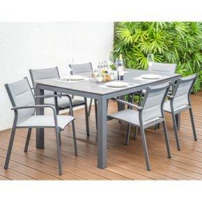 """Home Islands Gartenmöbel-Set mit Tisch """"Dayann"""" und Stapelsessel """"Luis"""""""