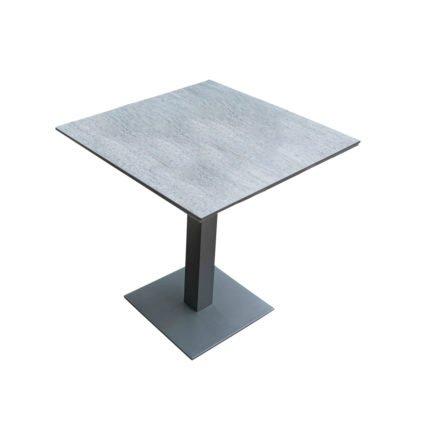 """Home Islands Gartentisch """"Mahua"""", Gestell Aluminium charcoal, Tischplatte HPL Dark Grey"""