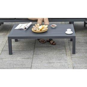 "Home Islands ""Chalong"" Loungetisch, Gestell & Tischplatte aus Aluminium in Anthrazit"
