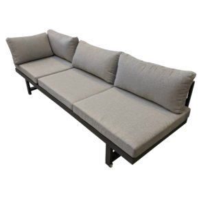 "Home Islands Loungesofa ""Chalong"", Gestell Aluminium anthrazit, Polster hellgrau"