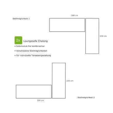 """Home Islands Loungesofa """"Chalong"""", Stellvarianten für 2 Loungesofas über Eck"""
