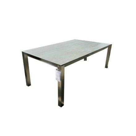 "Home Islands Gartentisch ""Miharu"", Gestell Edelstahl, Tischplatte Keramik Aspen grey, Länge 180 cm"