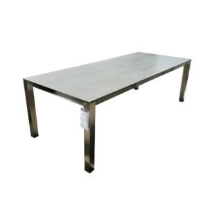 "Home Islands Gartentisch ""Miharu"", Gestell Edelstahl, Tischplatte Keramik Aspen grey, Länge 240 cm"