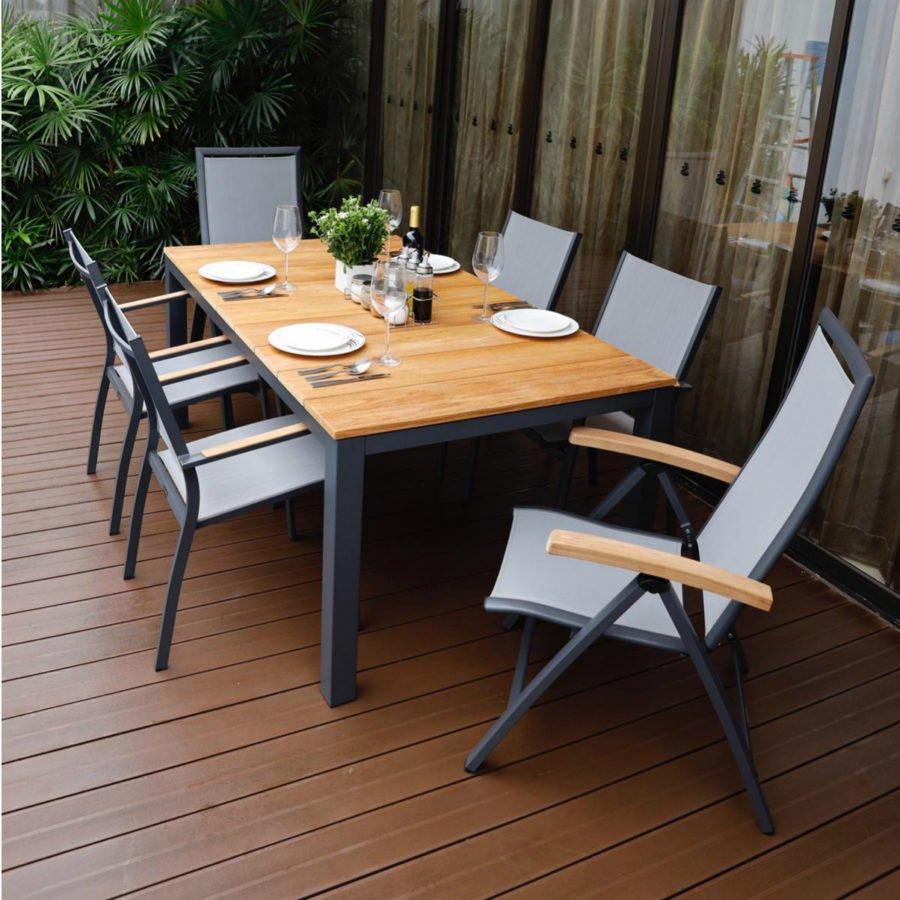 Home Islands Gartenmobel Set Mit Stuhl Yuri Und Tisch Sumatra