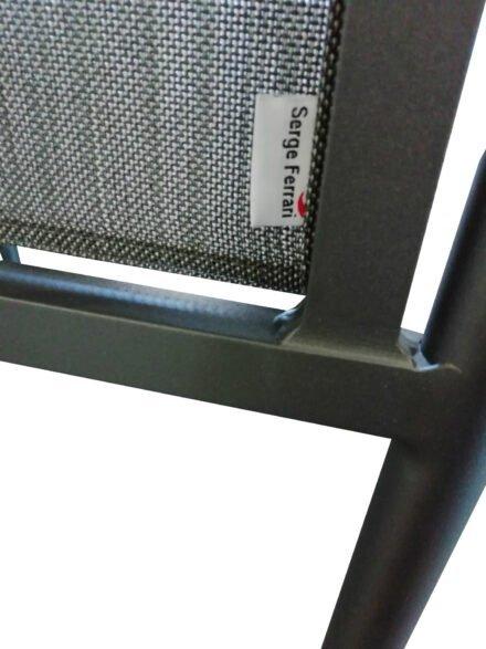 "Jati&Kebon Stapelstuhl ""Arosa"", Gestell Aluminium eisengrau matt, Bespannung Textilgewebe Batyline dark grey"