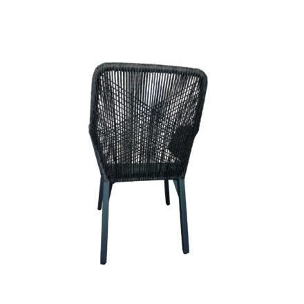 "SIT Mobilia Gartenstuhl ""Morris"", Gestell Aluminium eisengrau, Geflecht Twisted Ebony"