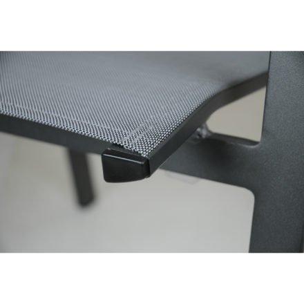 """SIT Mobilia Stapelstuhl """"Merlo"""", Gestell Aluminium eisengrau, Bespannung Textilen silber"""