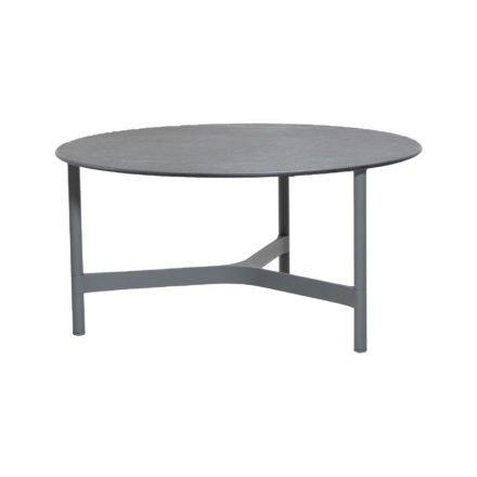 """Cane-line """"Twist"""" Loungetisch, groß, Gestell Aluminium hellgrau, Tischplatte Keramik schwarz"""