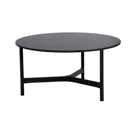 """Cane-line """"Twist"""" Loungetisch, groß, Gestell Aluminium lavagrau, Tischplatte HPL dark grey structure"""