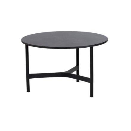"""Cane-line """"Twist"""" Loungetisch, mittelgroß, Gestell Aluminium lavagrau, Tischplatte HPL dark grey structure"""