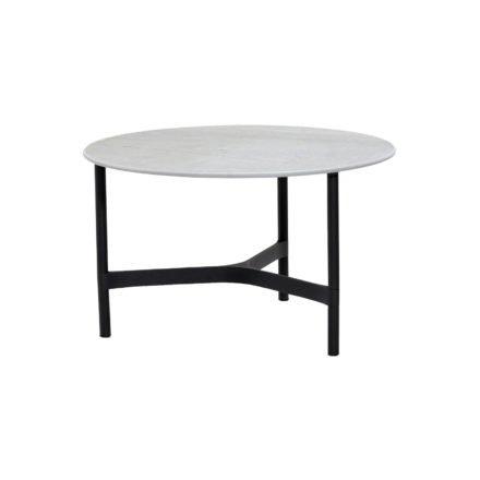 """Cane-line """"Twist"""" Loungetisch, mittelgroß, Gestell Aluminium lavagrau, Tischplatte Keramik grau"""