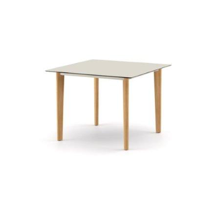 """DEDON Diningtisch 100x100 cm """"AIIR"""", Gestell Teak, Tischplatte HPL lipari"""