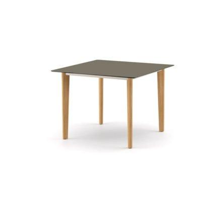 """DEDON Diningtisch 100x100 cm """"AIIR"""", Gestell Teak, Tischplatte HPL vulcano"""