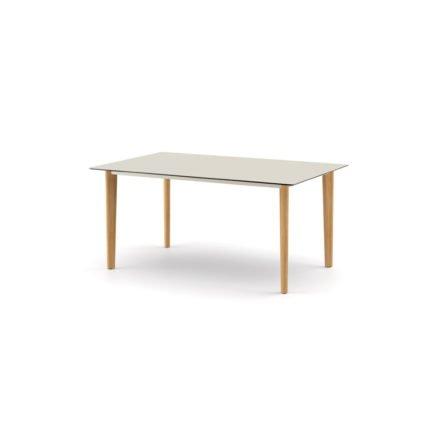 """DEDON Diningtisch 160x100 cm """"AIIR"""", Gestell Teak, Tischplatte HPL lipari"""