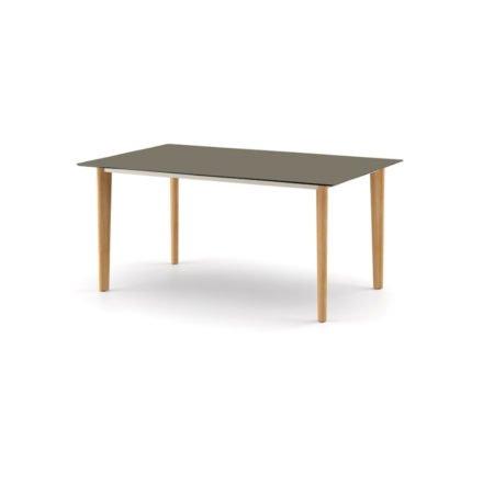 """DEDON Diningtisch 160x100 cm """"AIIR"""", Gestell Teak, Tischplatte HPL vulcano"""