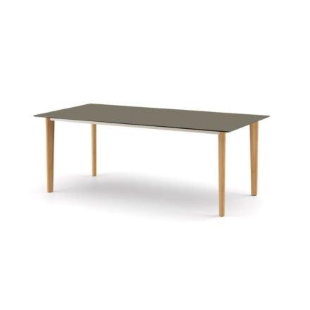 """DEDON Diningtisch 200x100 cm """"AIIR"""", Gestell Teak, Tischplatte HPL vulcano"""