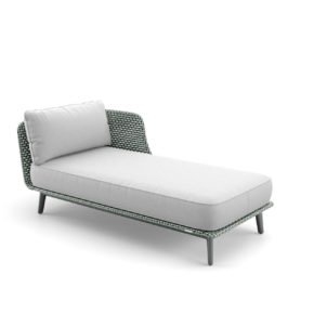 "DEDON Daybed links ""MBARQ"", Geflecht baltic"