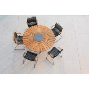"""Houe Gartenmöbel-Set mit Tisch """"Circle"""" und Stapelsessel """"Click"""""""